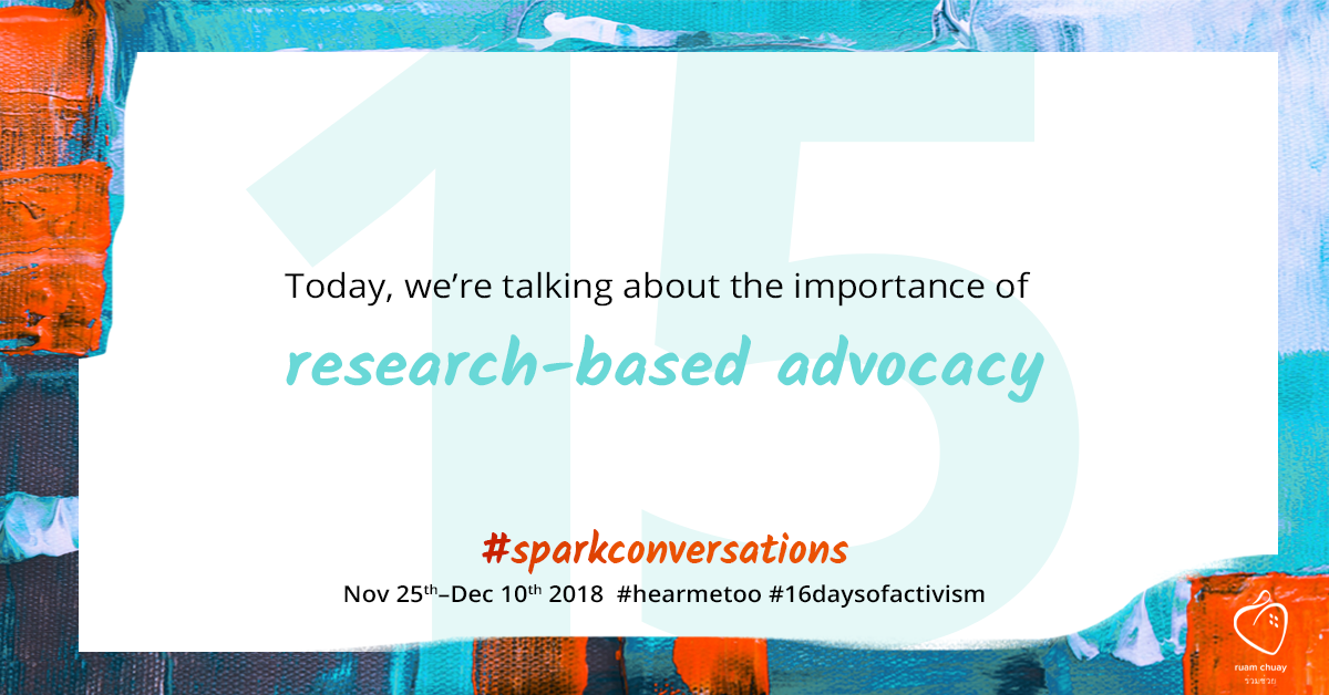 Today, we're talking about the importance of research based advocacy