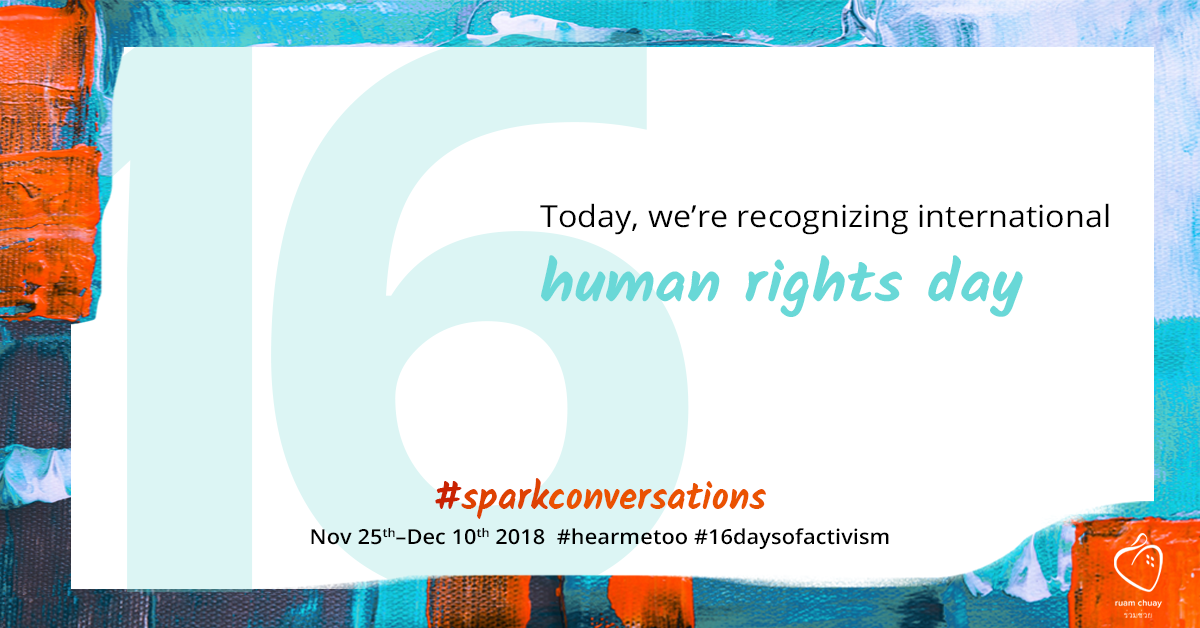 Today, we're recognizing international human rights day